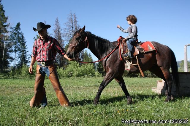 Pony ride with Philip - Heart Six Ranch