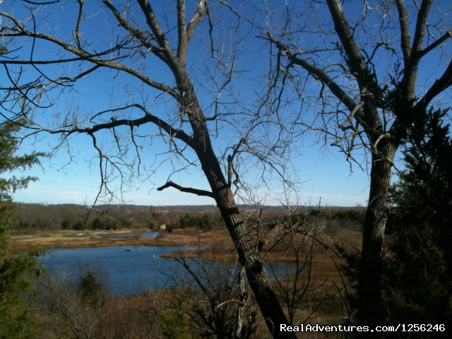 Bluff-Top view of Beaver Lake (#4 of 6) - Meadowlake Ranch B&B, Dude Ranch, Weddings, Events