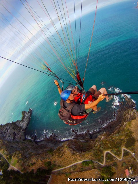 Tandem paragliding - the cliffs christchurch - Parapro Paragliding and Paramotoring Professionals