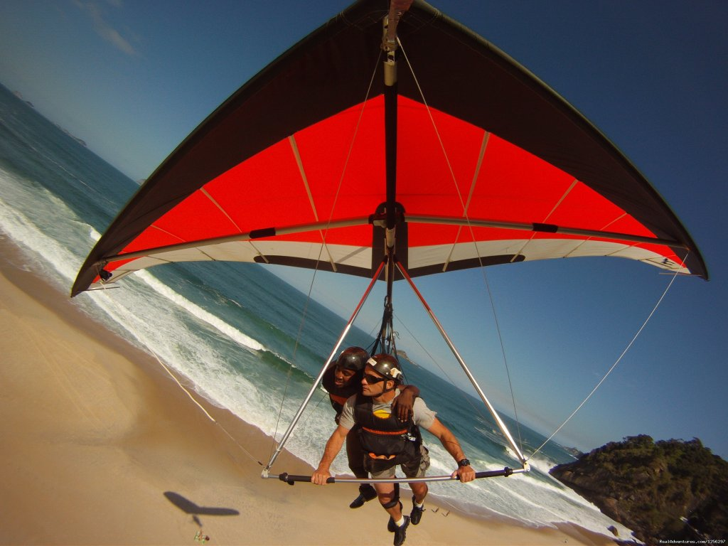 .Hang Gliding in Rio de Janeiro Brazil is a once in a lifetime exerience. We have a team of safe experienced instructors which will make you soar safely over the city of Rio.