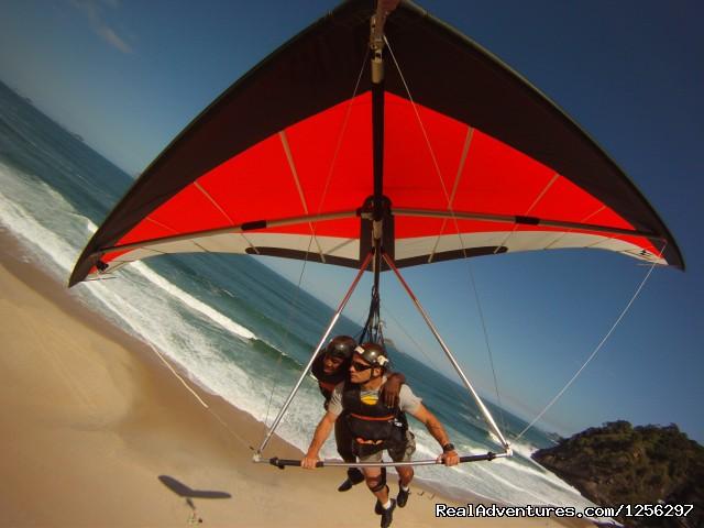 Landing on S?o Conrado Beach Rio de Janeiro, Brazil (#1 of 4) - Hang Gliding in Rio de Janeiro