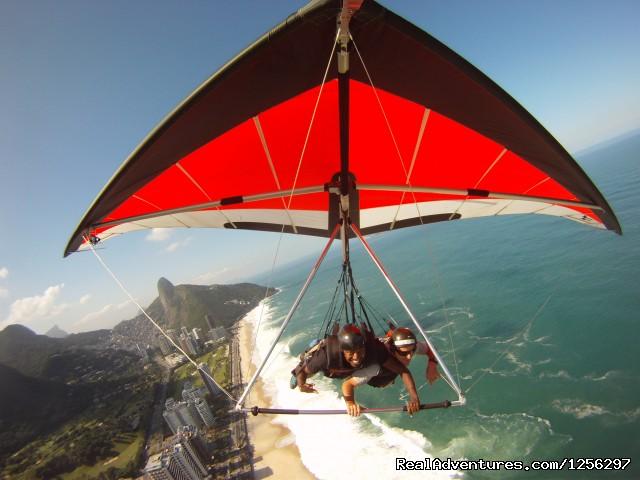 Hang Gliding over S?o Conrado Beach Rio de Janeiro, Brazil - Hang Gliding in Rio de Janeiro