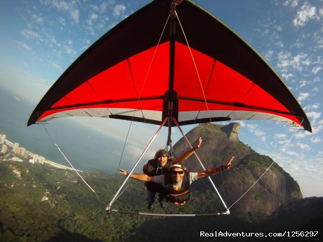 Hang Gliding next to Gavea peak in Rio de Janeiro, Brazil - Hang Gliding in Rio de Janeiro