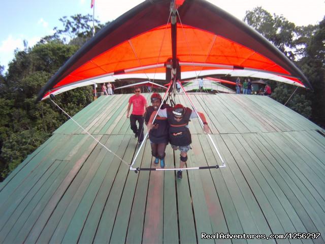 Hang Glider take off, Pedra Bonita, Rio de Janeiro (#4 of 4) - Hang Gliding in Rio de Janeiro