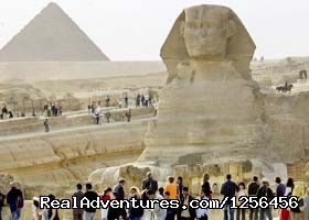 Sphinx at Giza - Day trip to Cairo Pyramids from Hurghada by plane