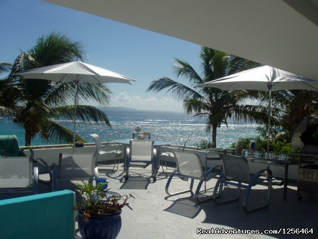 stunning ocean views from the large patio - Beach-front villa with stunning views