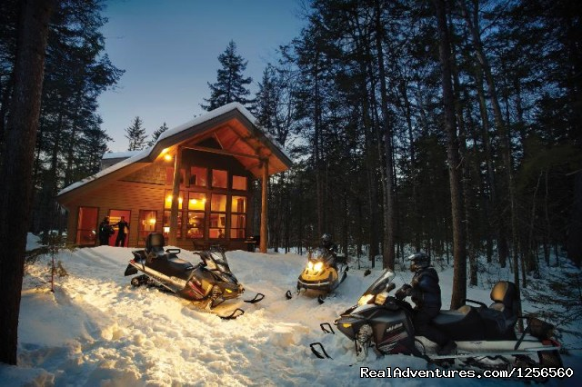 New England Outdoor Center Snowmobiling Millinocket, Maine