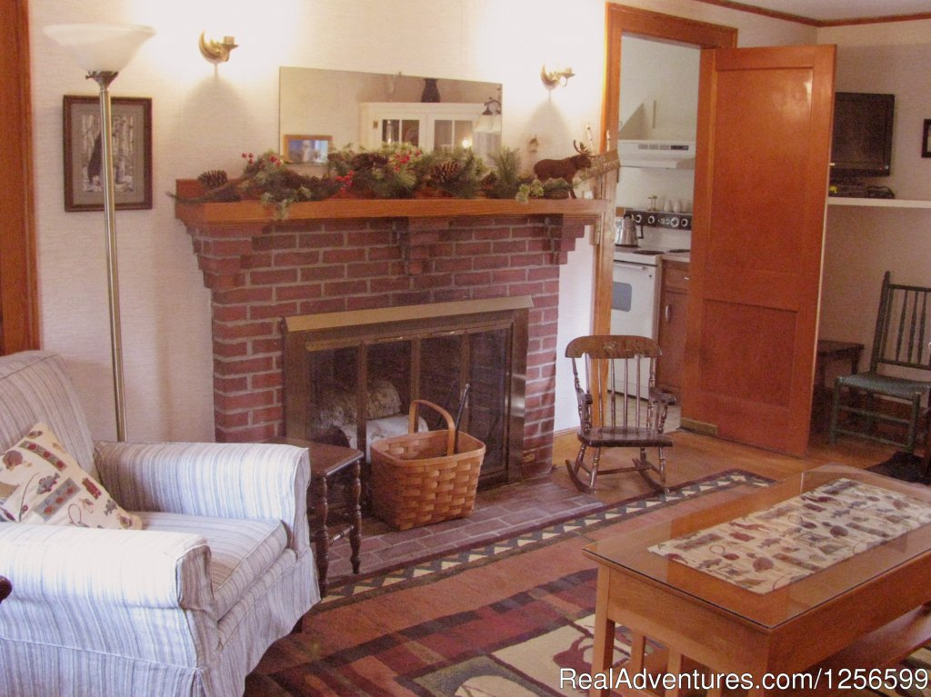 Cottage LivingRroom with fireplace, TV, WiFi, Mtn. Views | Image #4/7 | Carriage/Sleigh Ride w/ Vacation Rental Home
