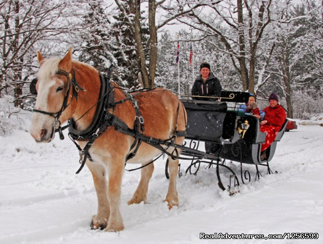 Victorain sleigh ride for 2 - Horseback/Carriage/Sleigh Ride &Lodging Vacation
