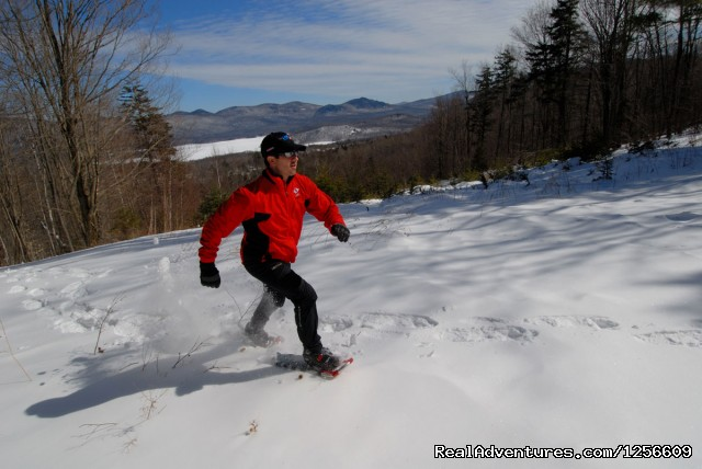 Solo Snowshoer - The Mountain Top Inn & Resort