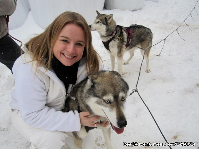 Shawn and Smudgie - Barking Brook Sled Dog Adventures llc