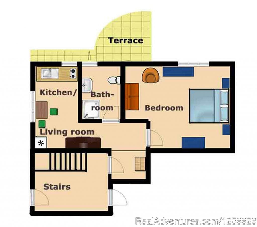 Floor plan apartment Cantinetta | Image #16/18 | Holiday Home I Due Padroni - Wine region Milan