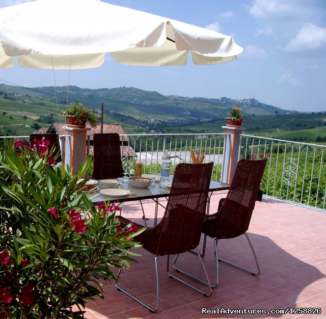 Private terrace with Panoramic View - Bed & Breakfast I Due Padroni - Wine region Milan