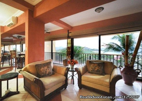 Living Room - Million Dollar Ocean Views - Playa Flamingo Condo