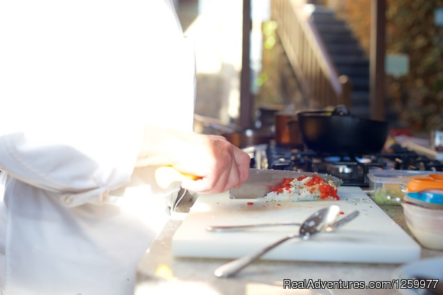 Prepping for Cooking Class. - Travel & Cuisine Adventures in Spain