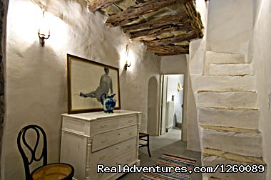 down level hall - Tinoshouse Holiday Rental on Tinos Island Greece