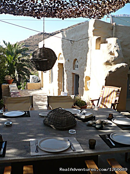 back dinning veranda - Tinoshouse Holiday Rental on Tinos Island Greece