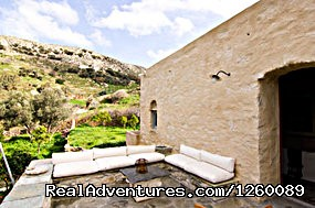 front veranda - Tinoshouse Holiday Rental on Tinos Island Greece