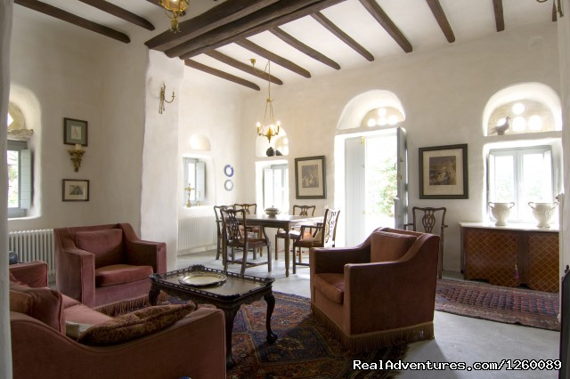 living room - Tinoshouse Holiday Rental on Tinos Island Greece
