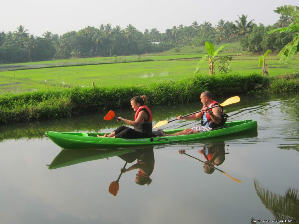 Kerala Kaykaing is one & only company in alleppey who do the backwater kayaking tour in alleppey backwater .See the   peaceful villages, smiling children and farmers hard at work. An excellent opportunity to see day today life of villagers, local peo