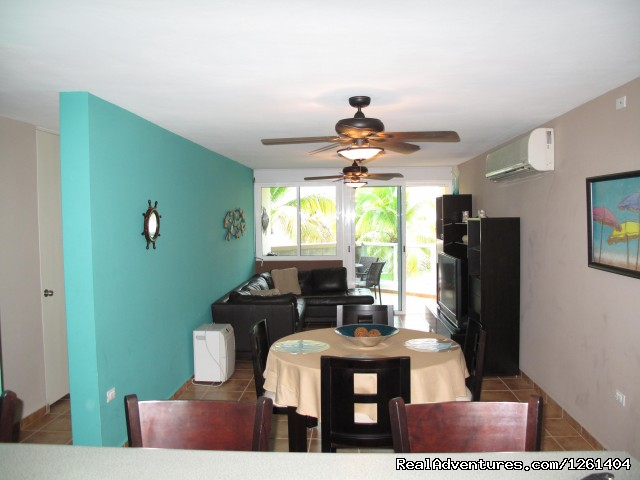 Living/ Dining area - Puerto Rico Beach Apartment