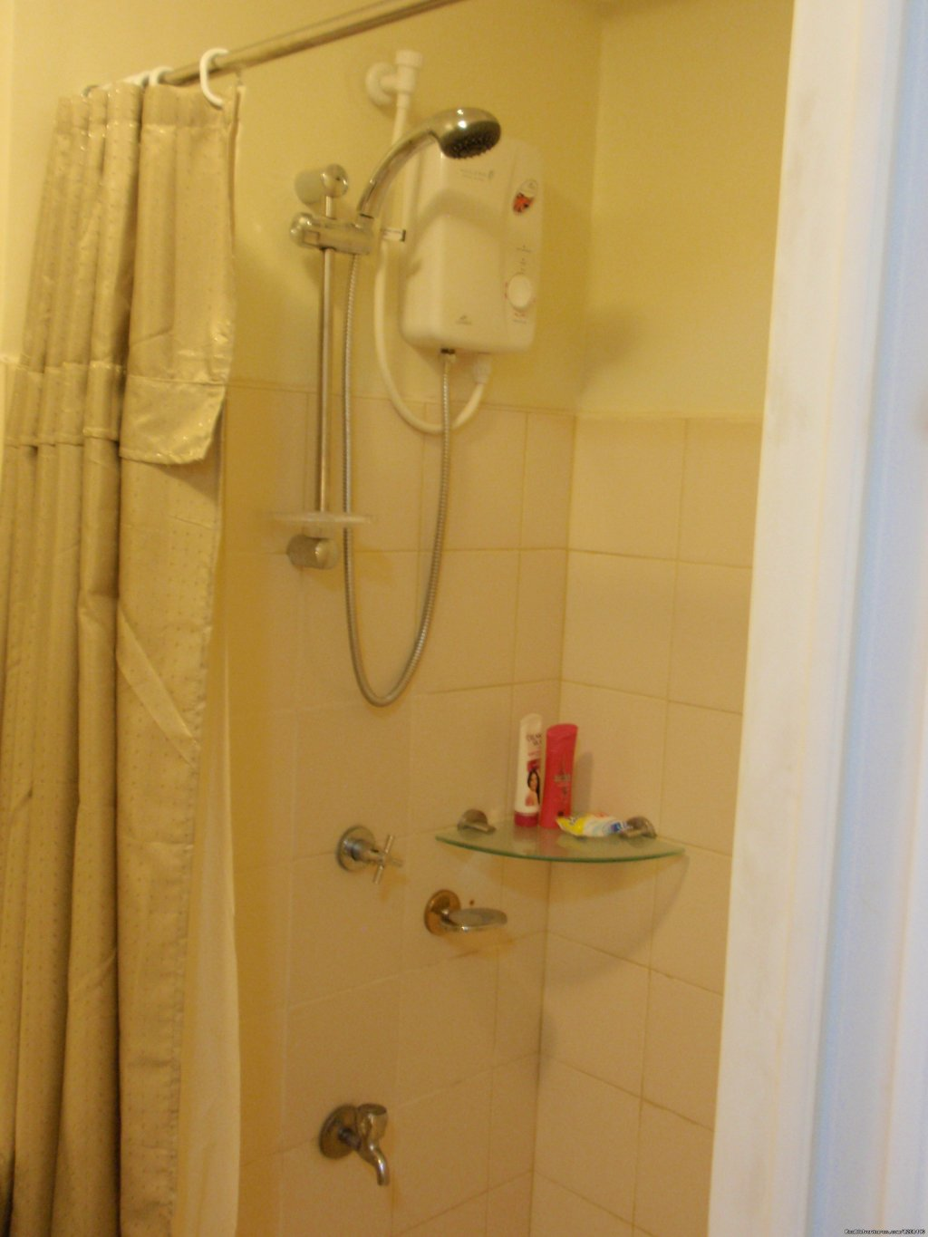 25th Floor Unit Bathroom- Shower Room | Image #19/26 | Fully Furnished Studio-Condo Unit in Manila
