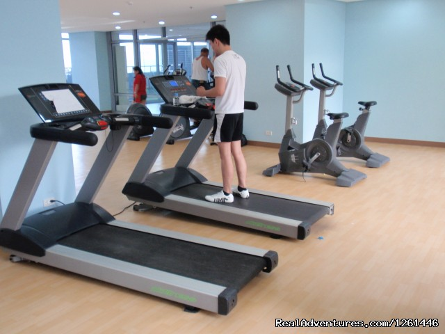 Fitness Center - Fully Furnished Studio-Condo Unit in Manila