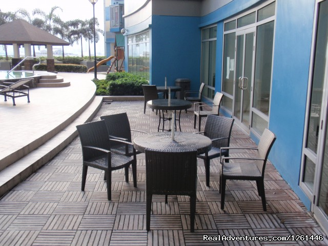 Picnic Tables And Chairs - Fully Furnished Studio-Condo Unit in Manila