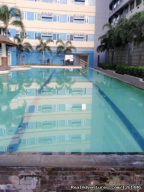 Adult Pool- Lap Pool - Fully Furnished Studio-Condo Unit in Manila