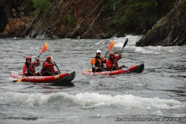 Tandem Whitewater Rafting - Whitewater Rafting in Wells Gray Park, BC