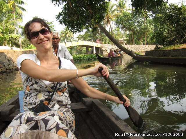 Canoeing on Eco houseboat's 1st option tariff system (#4 of 8) - Eco houseboat romantic getaway in Kerala, India