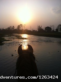 sunset point Rapti river - Horseback Riding  yoga and reiki in Nepal