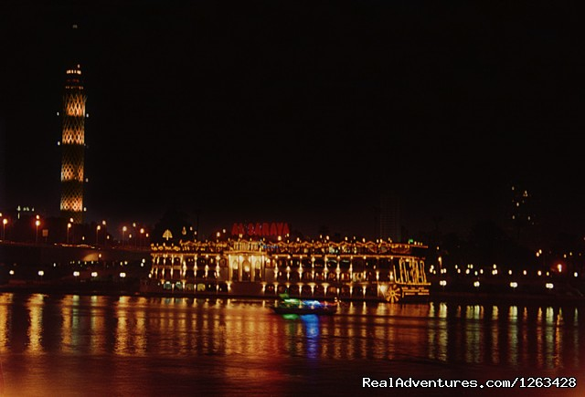 Nile cruise Cairo night: V