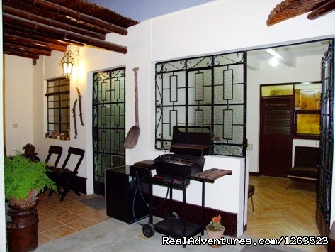 Cozy apartment in ICA, short and long term rental: Terrace with grill and small garden