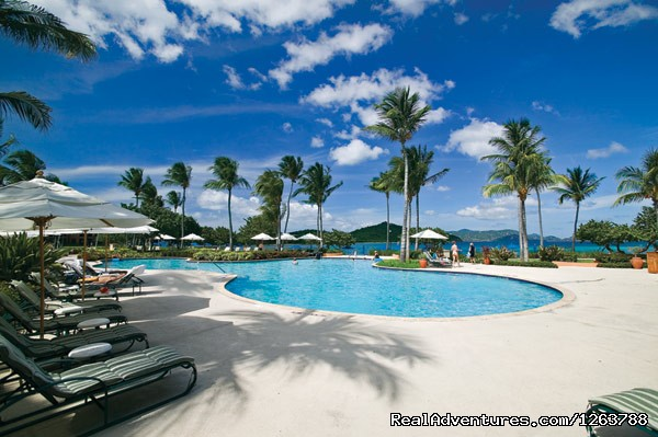 Delightful Ritz Pool with view of ocean - Luxurious Carlton Club Condo US Virgin Islands