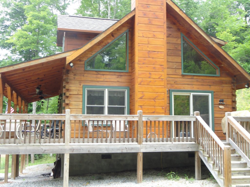 Side Entrance to Cabin | Image #3/20 | Luxury Cabin on Beautiful Mt Stream $199/nightly