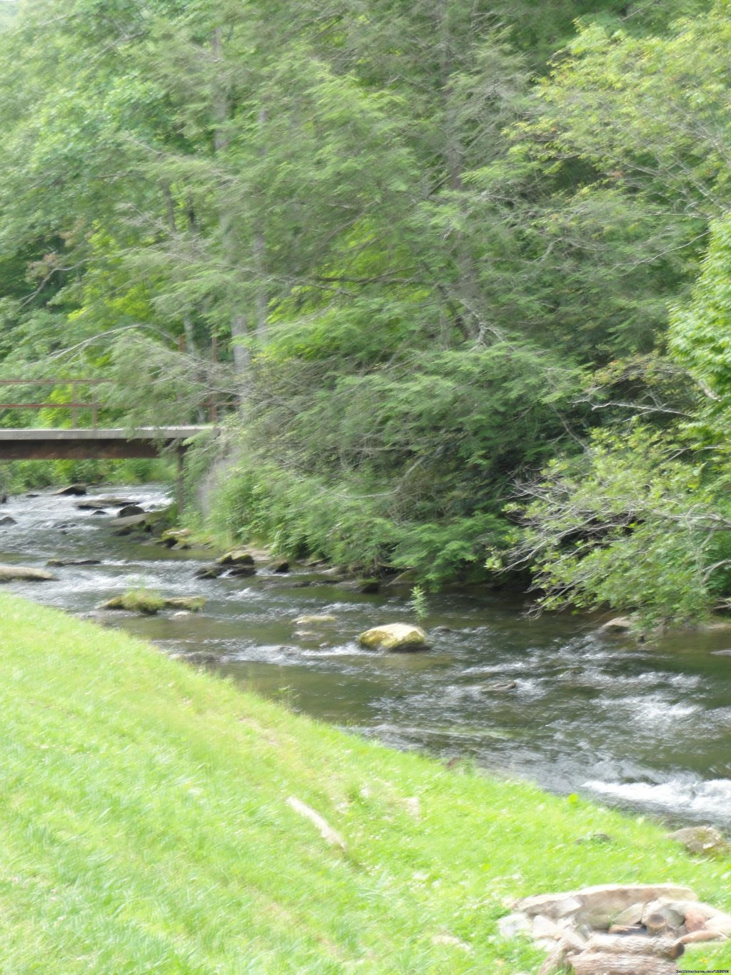 Creek in Front of Cabin | Image #5/20 | Luxury Cabin on Beautiful Mt Stream $199/nightly