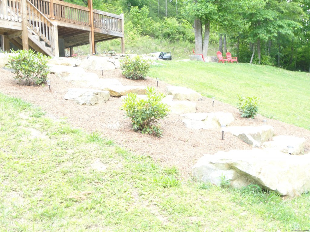 Boulders leading down to Creek | Image #7/20 | Luxury Cabin on Beautiful Mt Stream $199/nightly