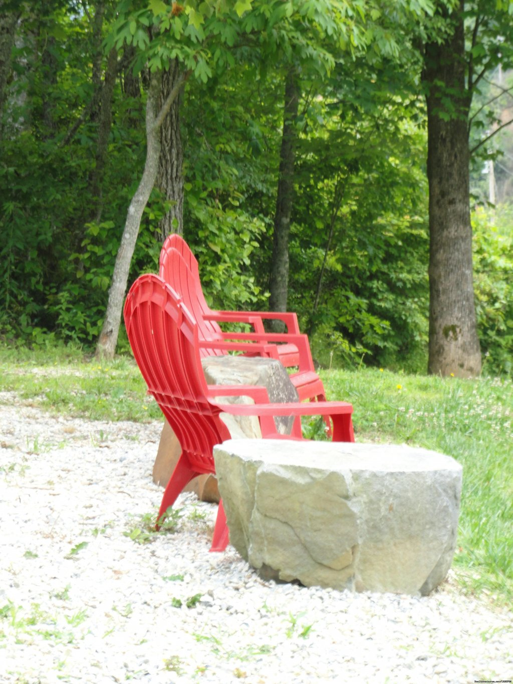 You can sit outside an enjoy the stream | Image #8/20 | Luxury Cabin on Beautiful Mt Stream $199/nightly