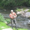 One of our guest fly fishing