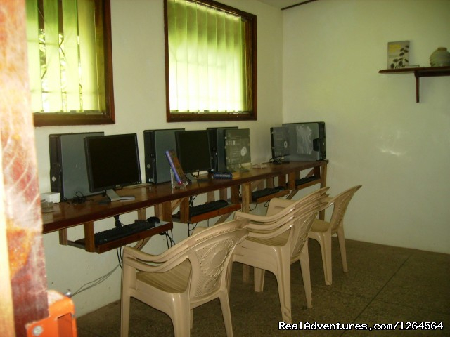 Computer room at the business site. - Black Star Lions' Guest Cottages