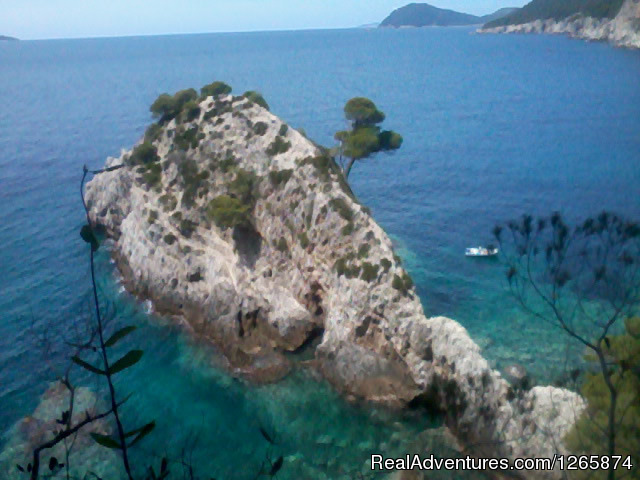 Soth side of Kolocep Island - Sea Kayaking week in Dubrovnik region