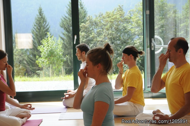 Breathing exercises - Yoga vacations at the Sivananda Yoga Retreat House
