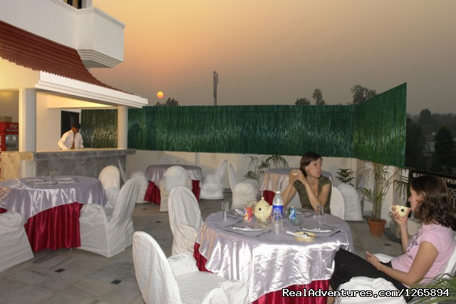 Roof Top Restaurant - Taj Homestay Agra