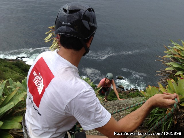 Rock climbing section (#2 of 2) - Sugar Loaf Climbing tour in Rio de Janeiro