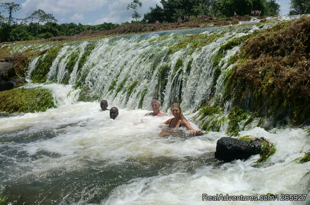 Natural massages in the sweetwater rivers in Suriname - Suriname, a melting pot of cultures and history