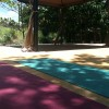 Shaded Yoga area