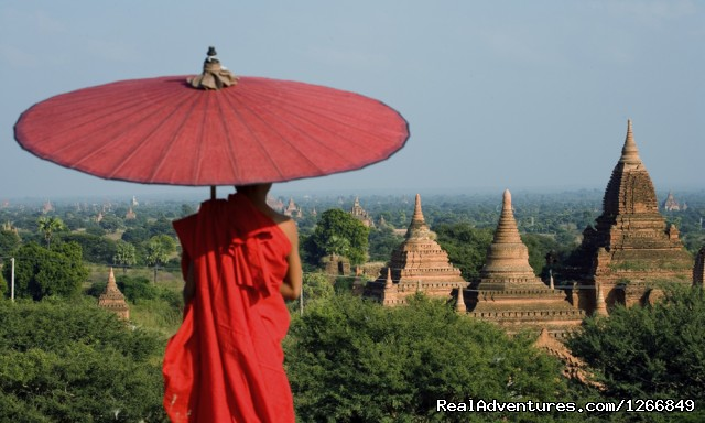Myanmar Young Monk Overlooks Bagan Temples - A Tale Of Two Cities: Mandalay To Bagan
