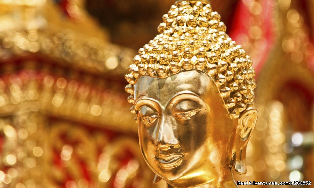 Gold Face Of Buddha Statue In Doi Suthep Temple | Image #4/6 | Sweet, Sour, Salt And Spicy: Thailand's Culture
