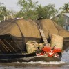 Vietnam Boat Loaded With Rice
